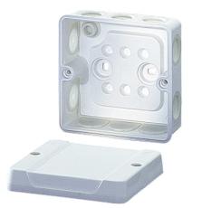Membrandåse 2,5 mm² med aflastning hvid