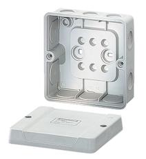 Membrandåse 4 mm² med aflastning grå