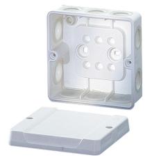 Membrandåse 4 mm² med aflastning hvid