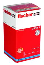 fischer nylonkipdybel DUOTEC S, med skruer, 25 stk.