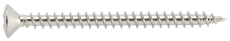 VVS skrue, rustfri Kv. A2, 6,0 x 100 mm, 25 stk.