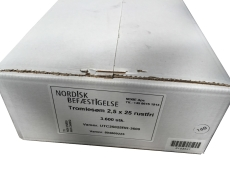 Tromlesøm 2,5 x 25 mm, varmgalvaniseret