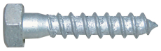 Fransk skrue, varmforzinket, Kv. 4.6 DIN 571, 8x100 mm, 50 s
