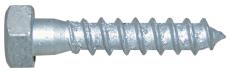 Fransk skrue, varmforzinket, Kv. 4.6 DIN 571, 12x80 mm, 25 s