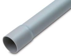 Plastrør 40 mm HF med muffe HFIRM 320N grå (3M)