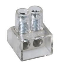 Samlemuffe 10 mm² dobbelt klar med lige kærv (100)