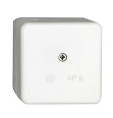 Forgreningsdåse AP6 hvid IP20