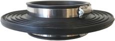 Ibeco 63 mm indmuringsmanchet med spændebånd, radonspærre