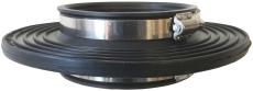 Ibeco 75 mm indmuringsmanchet med spændebånd, radonspærre