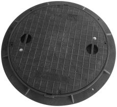Kombi Ringen A6 600 mm karm/dæksel, rund, fast, 0,6 t, plast