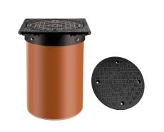 Kombi Ringen 315/400 mm firkantet dæksel med PP-skørt, 1,5 t
