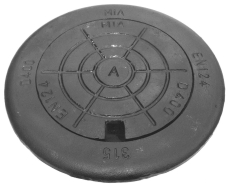Mardam EVO 315 x 150 mm karm/dæksel, rund, t/telesk.rør, 40