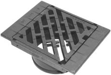 Ulefos 315 x 190 mm karm/rist, firkantet, t/telesk.rør, 40 t